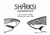 Picture of Life of Sharks 2019 A5 Landscape Desk Calendar