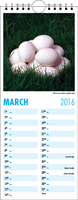 Picture of Kitchen Calendar K01 Sky Blue