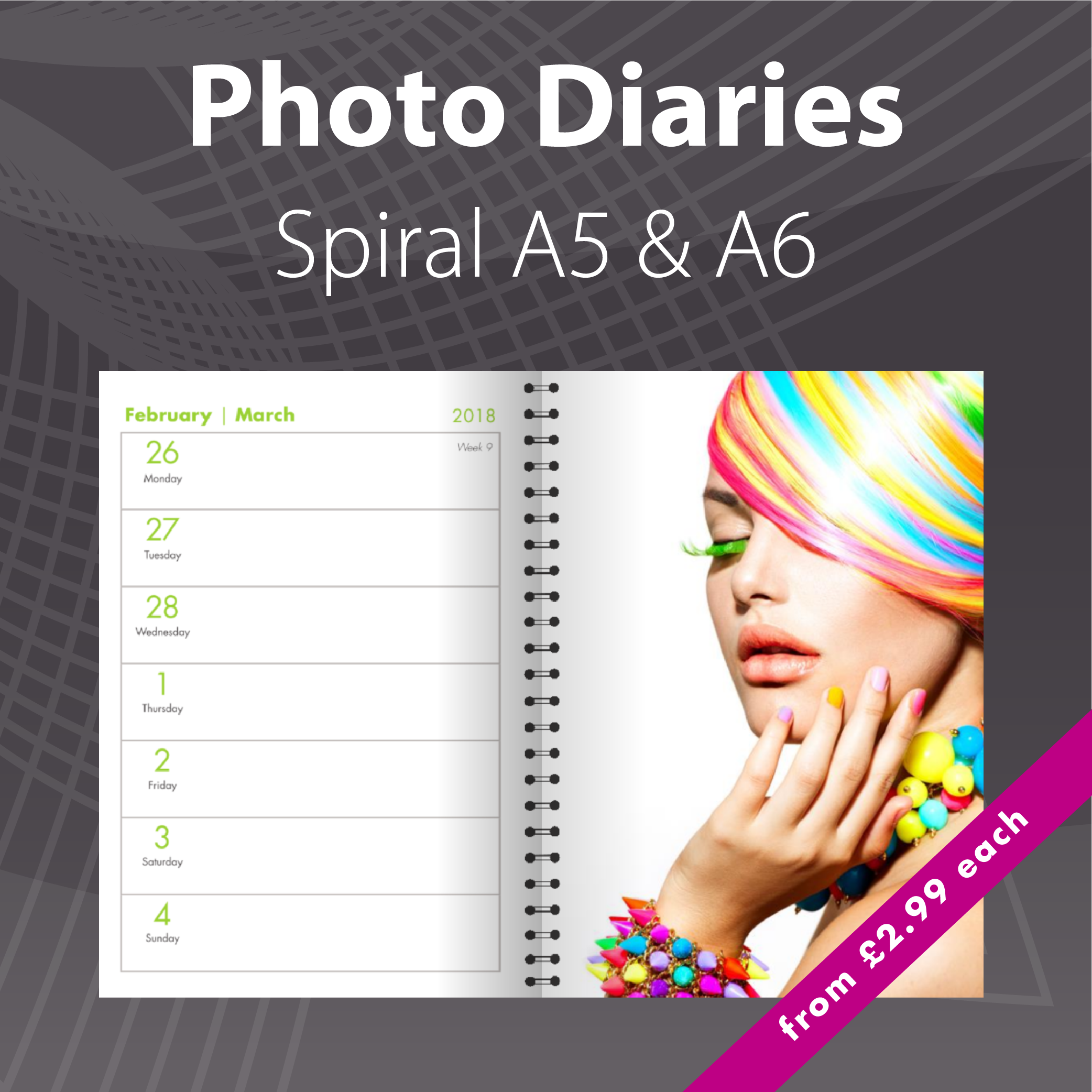 2020 Personalised Photo Diary Printing
