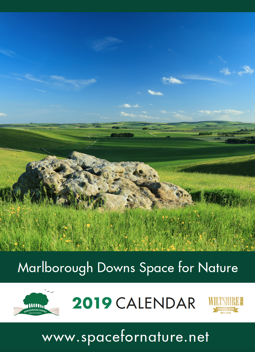 Picture of Space for Nature 2019 A3 Calendar