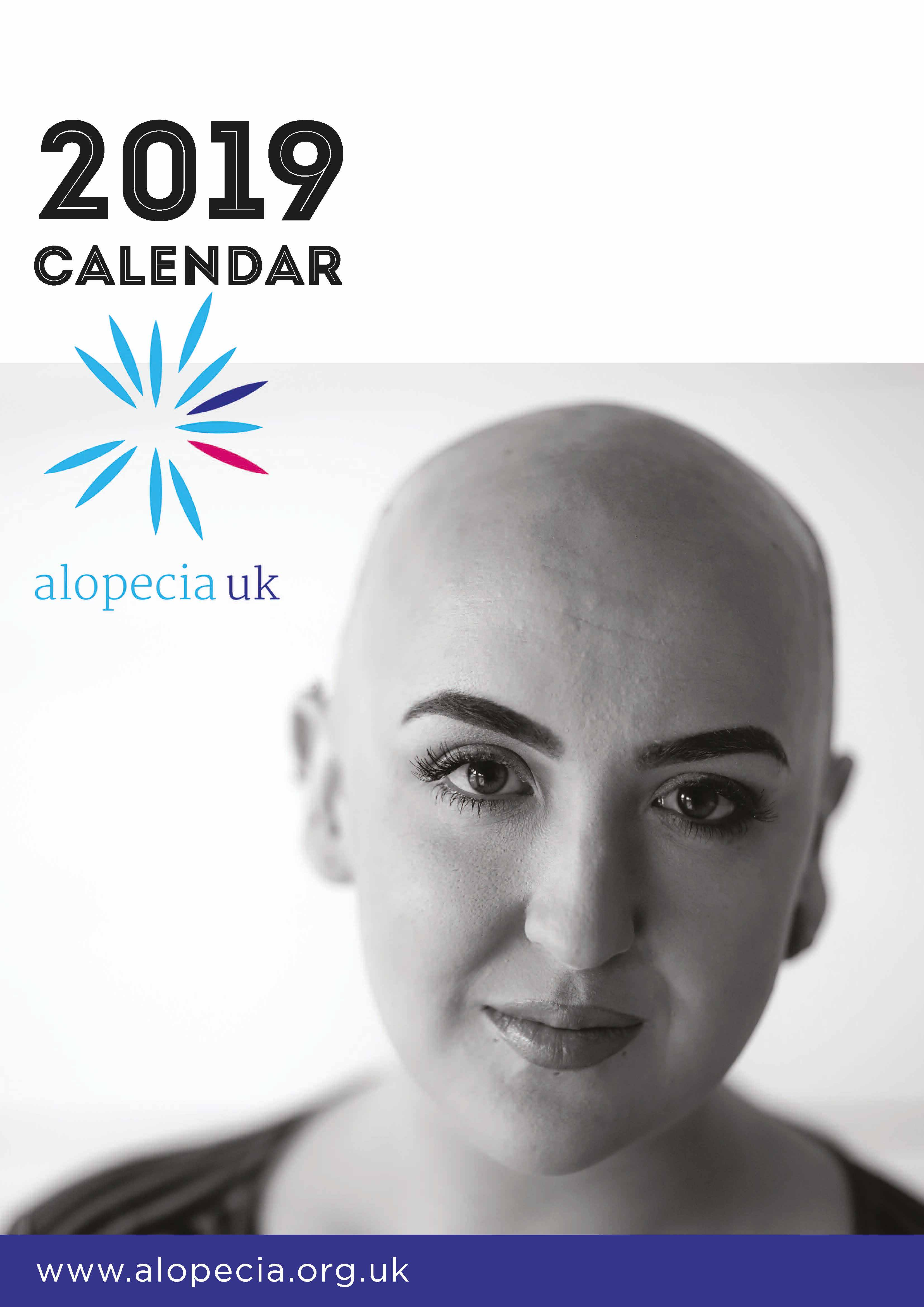 Picture of Alopecia UK 2019 A5 Desk Calendar