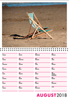 Picture of Spiral Booklet Calendar F02 Hot Pink