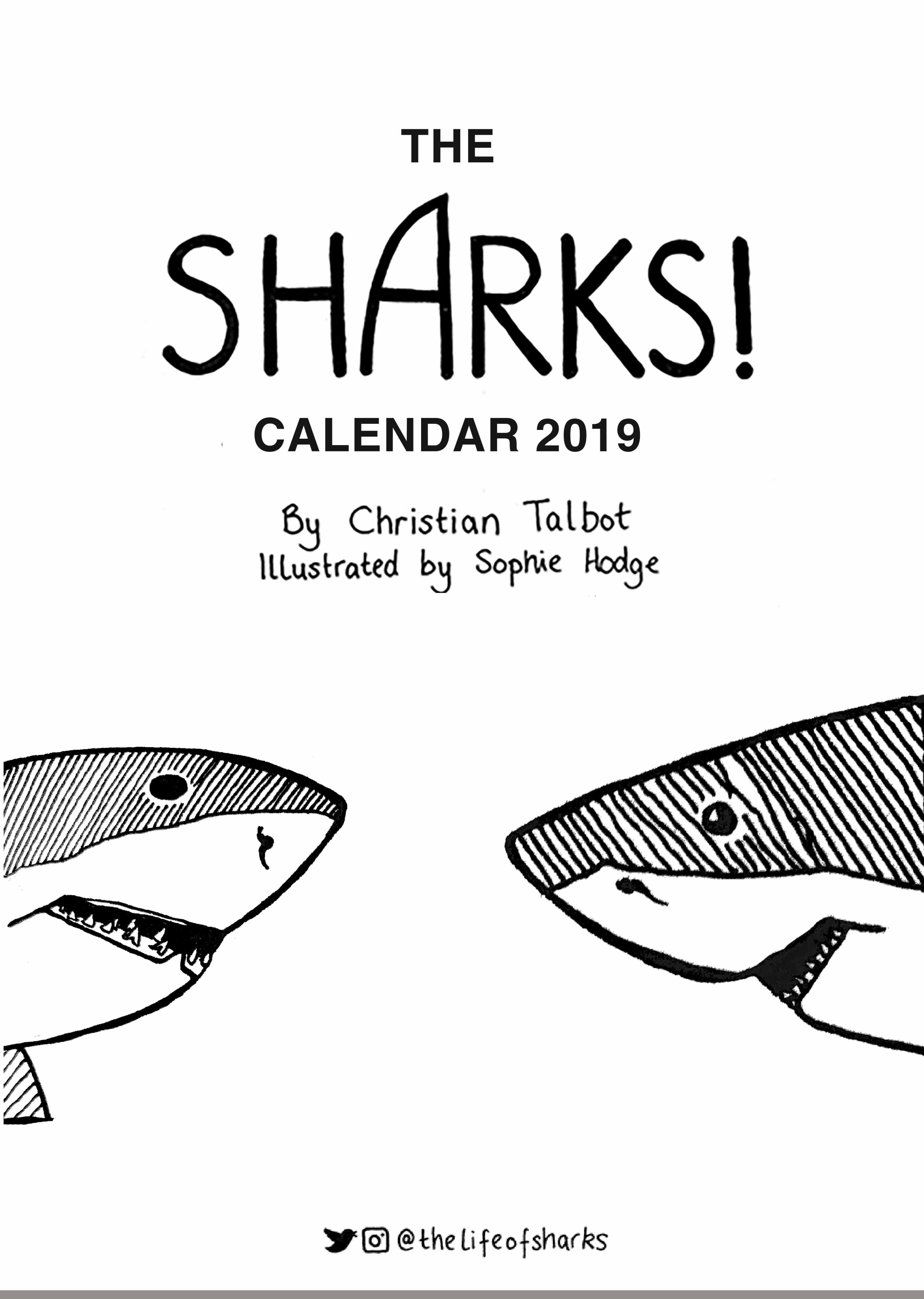 Picture of Life of Sharks 2019 A4 Calendar